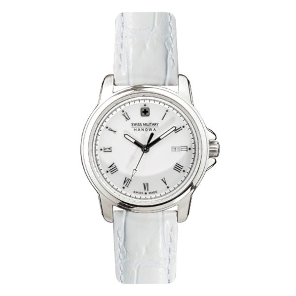 SWISS MILITARY/スイスミリタリー/腕時計 ML410 ローマン ホワイト×ホワイトレザー レディース 【長期保証5年付】