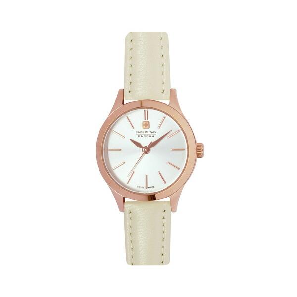スイスミリタリー 腕時計 ML413 PRIMO プリモ シルバー×ホワイトレザー レディース 【長期保証5年付】