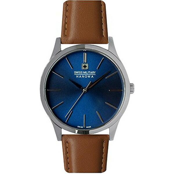 スイスミリタリー 腕時計 ML420 PRIMO プリモ ブルー×ブラウンレザー メンズ 【長期保証5年付】