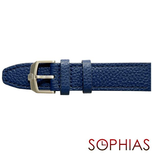 スイスミリタリー 純正 腕時計 替えベルト アロー ブルー レザー 23mm幅