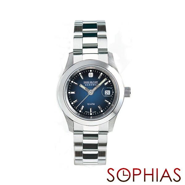 スイスミリタリー 腕時計 ML103 エレガント ネイビー レディース 【長期保証5年付】