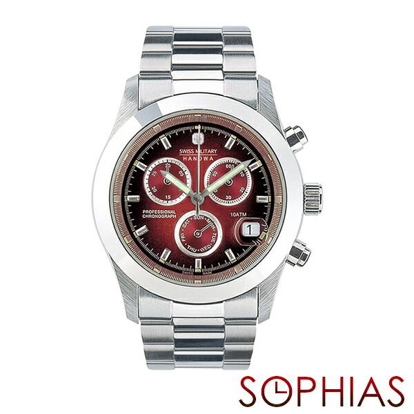 スイスミリタリー 腕時計 ML185 エレガントクロノ ボルドー メンズ 【長期保証5年付】