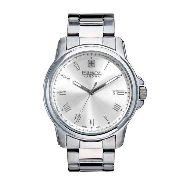 スイスミリタリー 腕時計 ML365 ローマン シルバー×シルバー メンズ 【長期保証5年付】