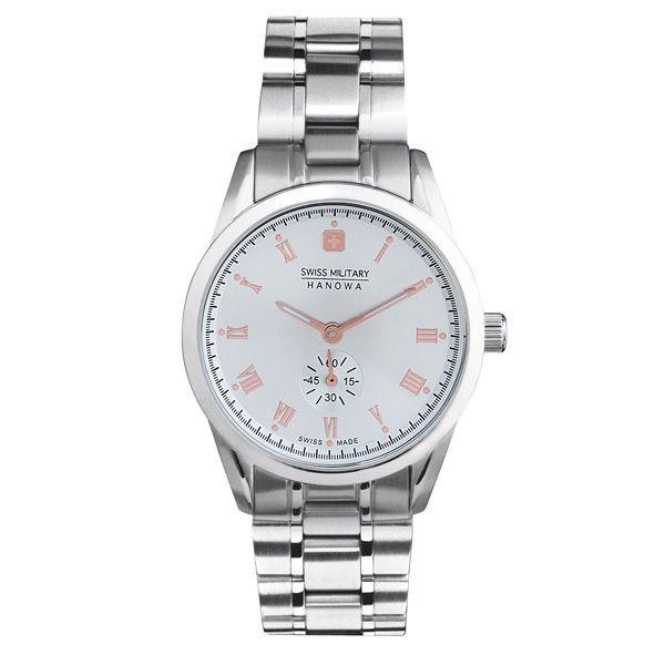 スイスミリタリー 腕時計 ML351 ローマン シルバー×ピンクゴールド レディース 【長期保証5年付】