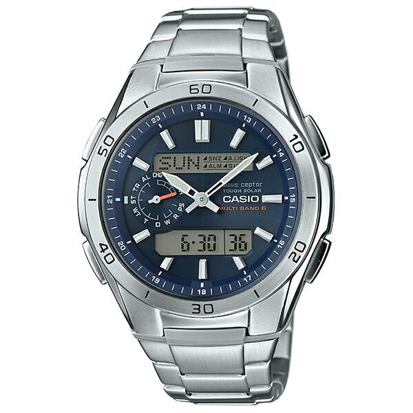 カシオ ウェーブセプター WVA-M650D-2AJF 電波ソーラー腕時計 メンズ ブルー 【長期保証5年付】