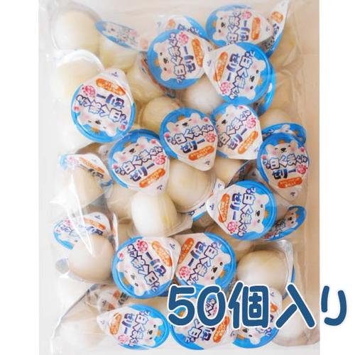 好評 食べきりサイズの駄菓子ポーションゼリー 小型宅配便可能 金城製菓 白くまくん練乳風味のプチぜり-16gx50個 ※アウトレット品