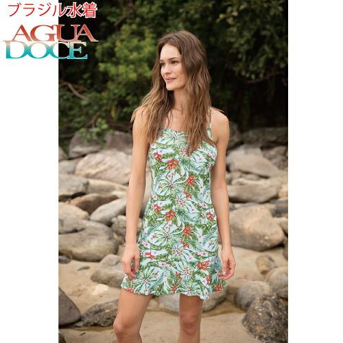 AGUA DOCE アグアドーセ ブラジリアン水着 南国タニカル柄 花柄 ワンピース ドレス ad-13436