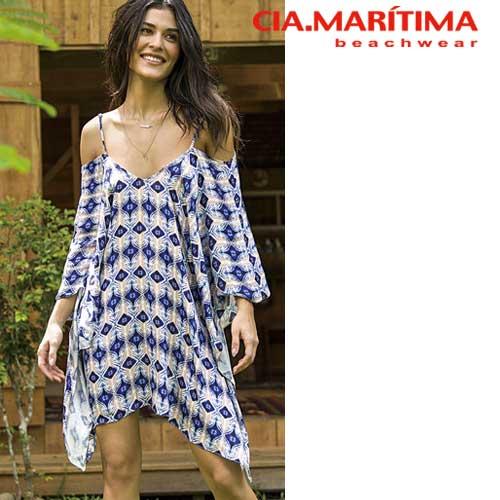 CIA.MARITIMA カンパーニャ マリッチマ◆ブラジル インポート水着 ビーチウエア ドレス カフタン キャミソール型 オルテガ cm-1591