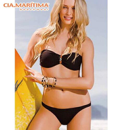 8b087c024a8 Brazilian bikini import swimsuit bandeau plain fabric Shin pull Brazilian  cut CIA.MARITIMA CM ...