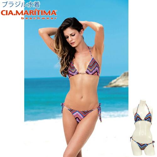 1bc14408709 CIA.MARITIMA カンパーニャマリッチマブラジルインポート swimsuit beachwear ethnic pattern  triangle bikini cm-
