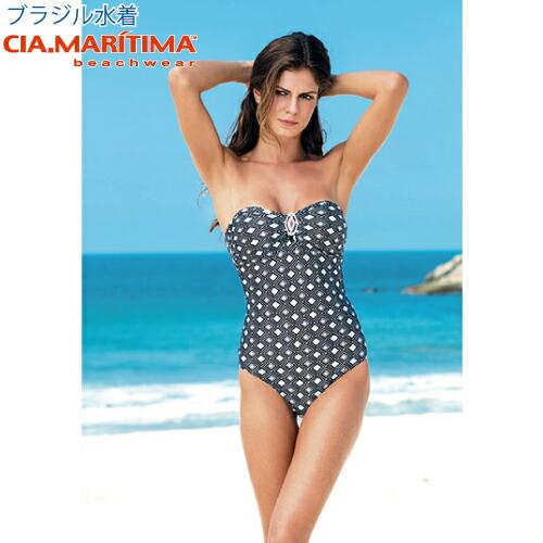 CIA.MARITIMA カンパーニャ マリッチマ ブラジル インポート水着 ビーチウエア 幾何学模様 バンドゥワンピース cm-57983