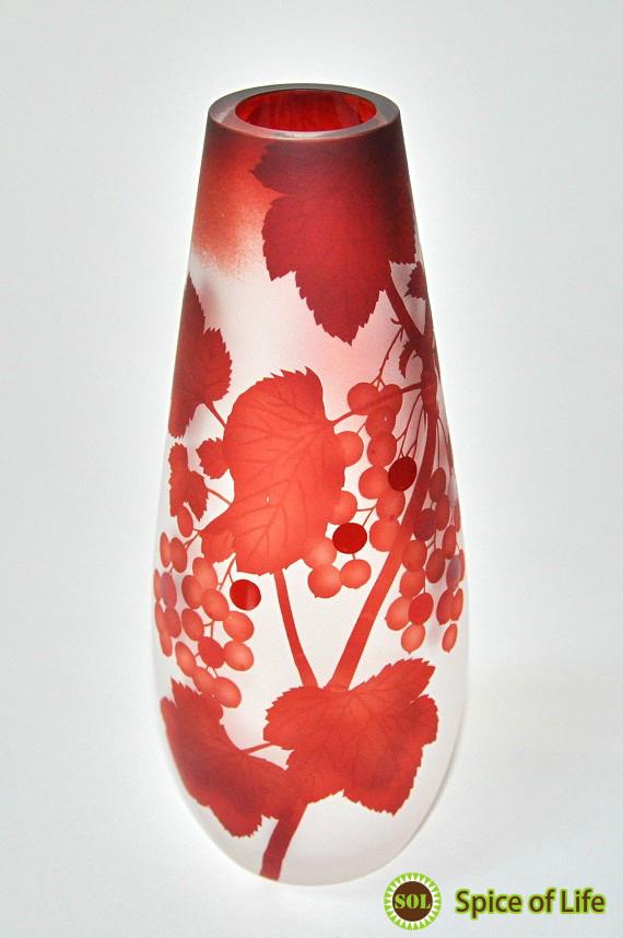 花瓶 ガラス おしゃれ ハンドメイド 高級 一輪挿し 赤【スグリ/花瓶】 手作り ハンドメイド 日本製 通販 新築祝い 還暦祝い お誕生日 ギフト プレゼント