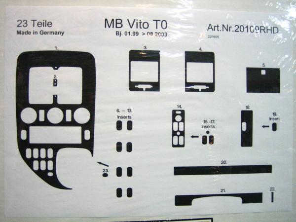 ●MB W638・Vクラス/'00-●インテリアパネル/ウォルナット●23p