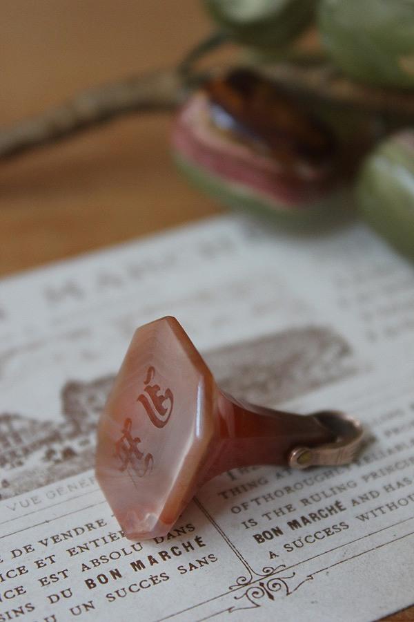 イニシャルが陰刻された封蝋に使うシール おトク FOBです 英国 ジョージアン 推定1800年頃 激安特価品 FOB アゲート9金 封蝋シール 02P03Dec16