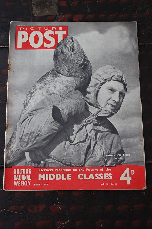 フォトジャーナリズム の先駆けとなったイギリスのライフマガジン「PICTURE POST」1938年創刊-1957年廃刊 第二次大戦から戦後の暮らし、歴史的瞬間を一流写真家の 写真で紹介 イギリス「PICTURE POST」1948年3月6日号 MIDDLE CLASSES - thefandomentals.com