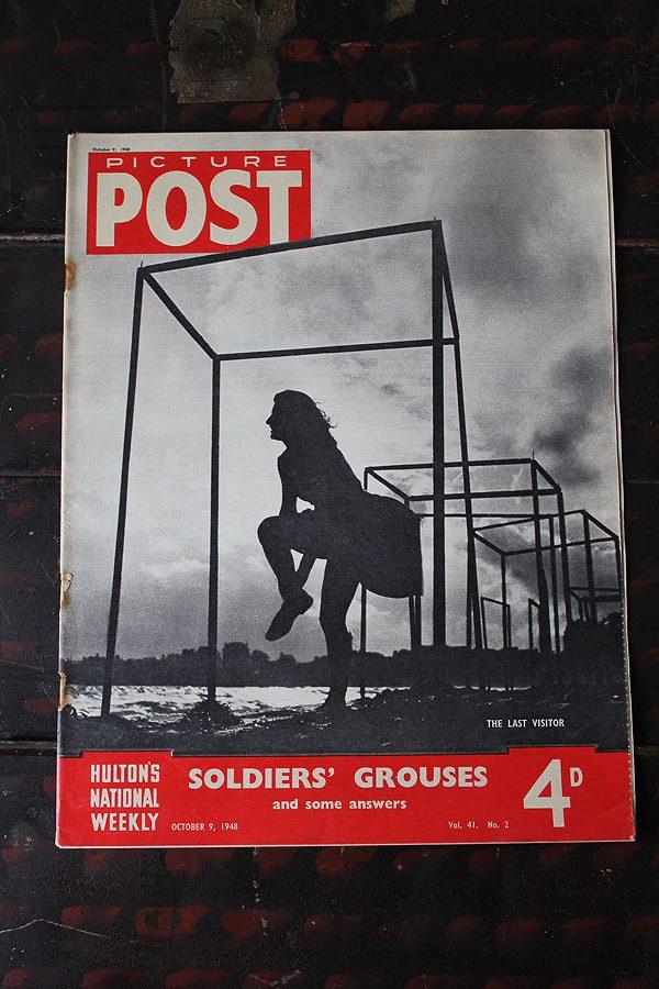 フォトジャーナリズム の先駆けとなったイギリスのライフマガジン PICTURE POST 1938年創刊-1957年廃刊 第二次大戦から戦後の暮らし 写真で紹介 1948年10月9日号 再入荷 予約販売 ランキングTOP10 SOLDIERS' イギリス GROUSES 歴史的瞬間を一流写真家の