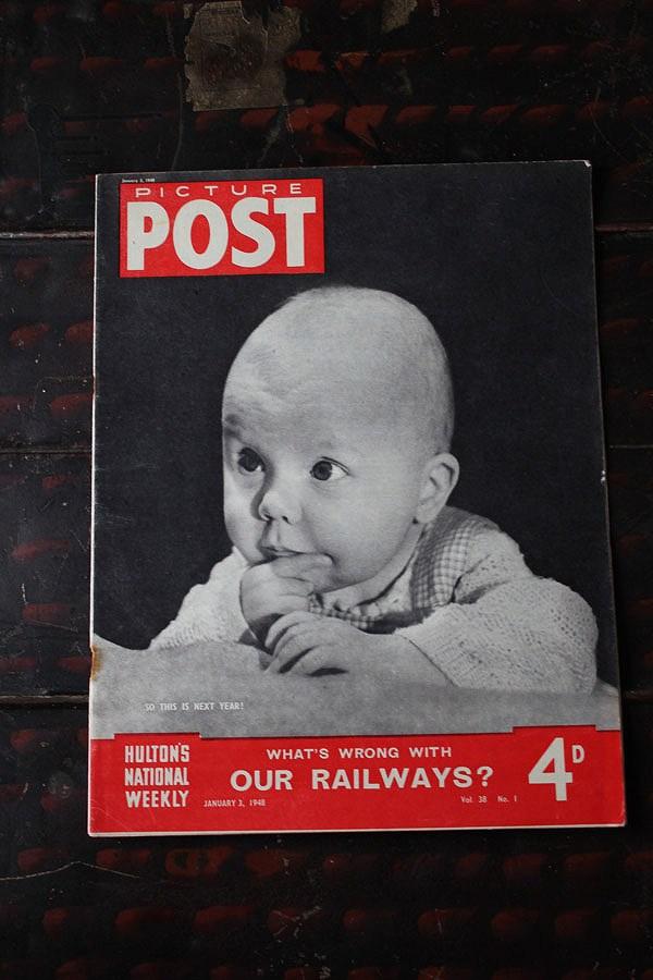 フォトジャーナリズム の先駆けとなったイギリスのライフマガジン PICTURE POST 1938年創刊-1957年廃刊 第二次大戦から戦後の暮らし ブランド激安セール会場 写真で紹介 RAILWAYS? イギリス 1948年1月3日号OUR メーカー公式 歴史的瞬間を一流写真家の