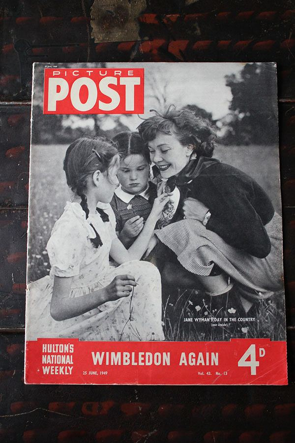 フォトジャーナリズム の先駆けとなったイギリスのライフマガジン PICTURE POST 1938年創刊-1957年廃刊 第二次大戦から戦後の暮らし WINBLEDON イギリス AGAIN 写真で紹介 歴史的瞬間を一流写真家の 豊富な品 1949年6月25日号 大注目