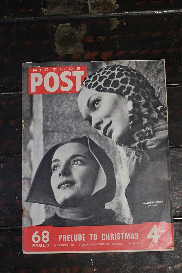 フォトジャーナリズム の先駆けとなったイギリスのライフマガジン PICTURE POST 1938年創刊-1957年廃刊 限定タイムセール 第二次大戦から戦後の暮らし 歴史的瞬間を一流写真家の CHRISTMAS TO PRELUDE 25%OFF イギリス 1949年12月10日号A 写真で紹介