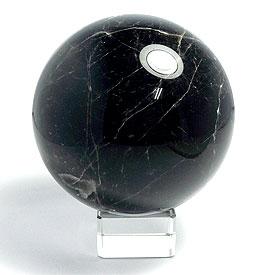 モリオン(黒水晶) 丸玉 100mm 台座付き 天然石 パーワーストーン