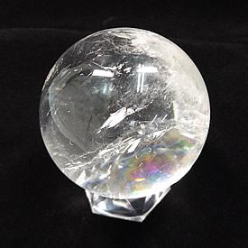 クリスタル(水晶) 丸玉 台座付き 直径 約65mm