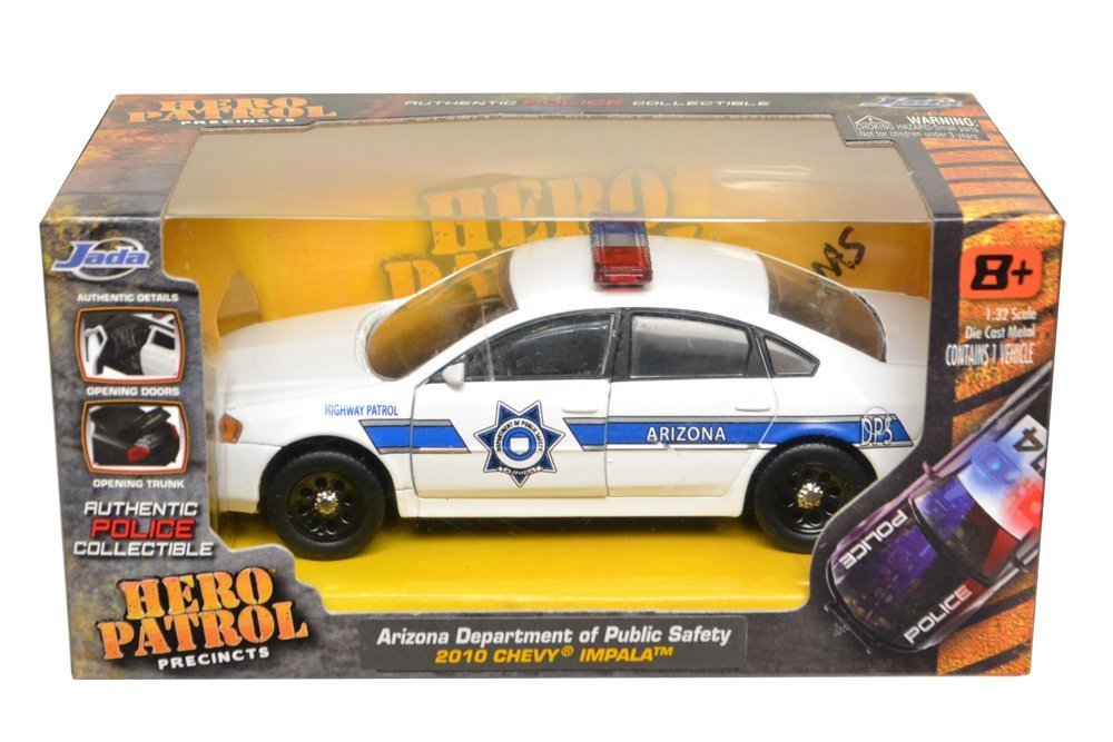 1/32 LEDカスタム済み Jada Toys製 2010 シェビー インパラ アリゾナ州警察 ハイウェイパトロール パトカー アメパト [並行輸入品]