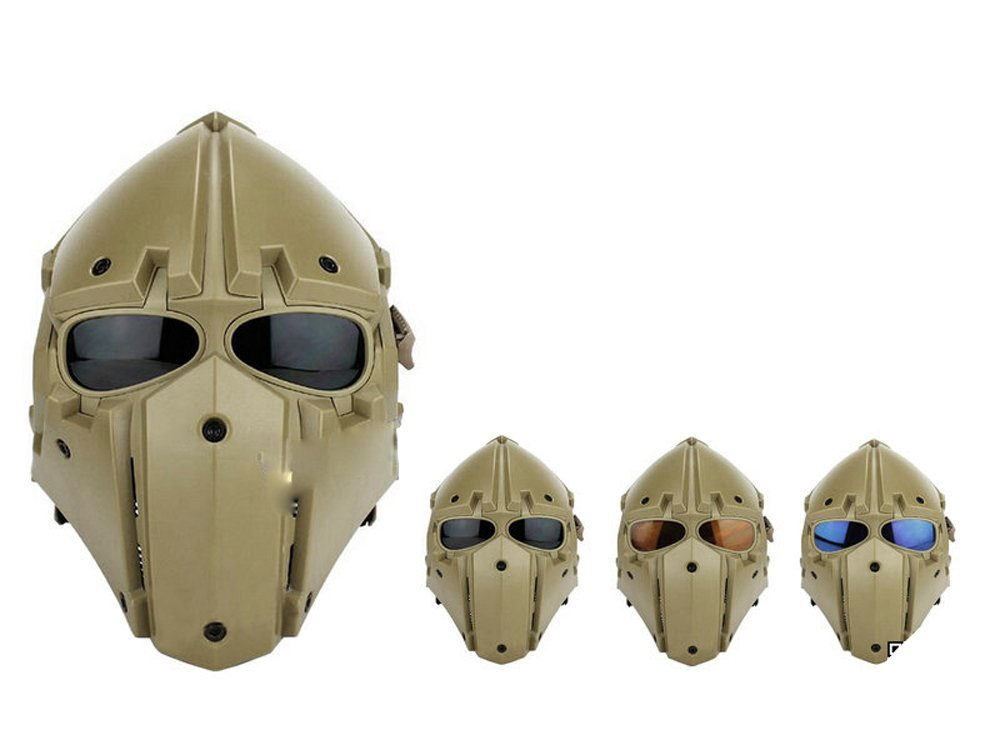 モジュラーヘルメット フルフェイスマスク ヘルメット フルフェイスマスク 1体型 電動換気ファン付 (タンカラー)