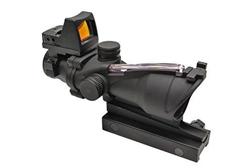 新 自動集光式 TA31タイプ 4X32 4倍固定 スコープ タクティカルスコープ ダットサイト付 黒 レプリカ