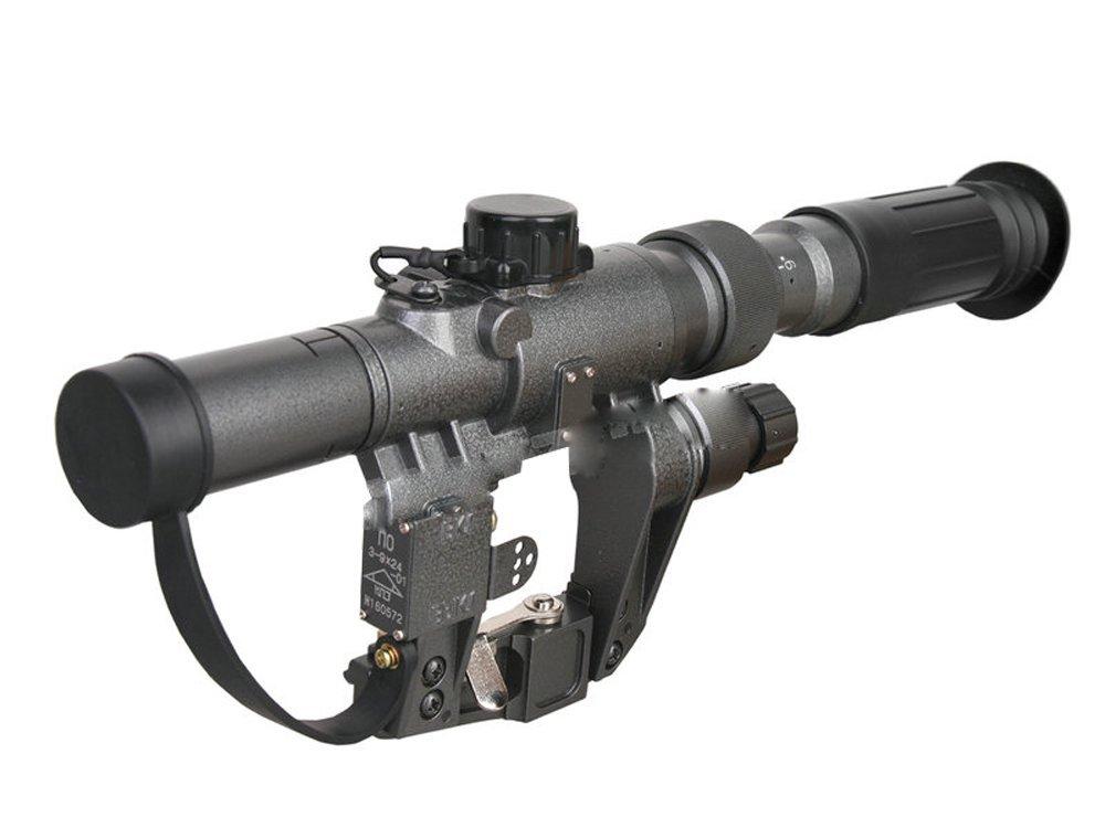 SVD ドラグノフ Dragunov ドラグノフスコープ スナイパースコープ VSS AK 3-9X24 倍率調節可能 グレー