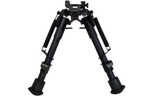 ハリスタイプ ショートバイポッド バイポッド スイング式 黒 スナイパー 安定した射撃に サバゲー