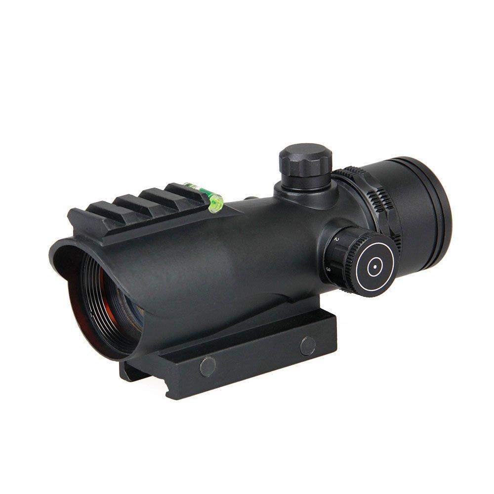 CANIS LATRAN製 1倍x30 等倍 レッドドットスコープ 水準器付き レッドドットサイト ブラック 黒色