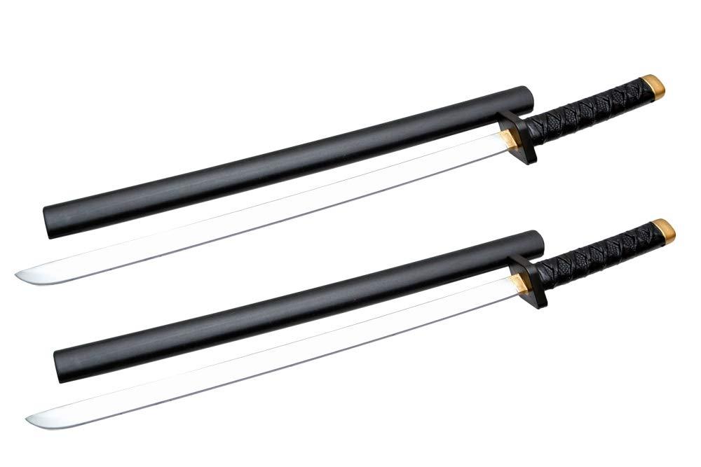 BWOLF 鞘あり 日本刀 柔らかい 発泡ウレタン製 コスプレ 殺陣の練習などに 模造刀 2本セット