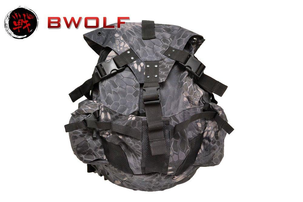 BWOLF製 ヘルメット携行可能 バックパック リュックサック Typhon タイフォンタイプ迷彩柄 BS337