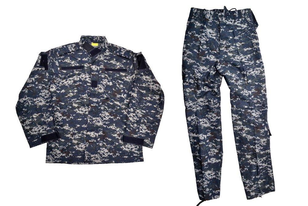 迷彩服 ピクセルブルー サバゲー 上下セット 装備 コスプレ サバイバルゲーム NWU 迷彩 ネイビー 戦闘服 米軍 海軍 ジャケット パンツ 《週末限定タイムセール》 M XL US BWOLF製 S 大幅にプライスダウン ジャケットパンツ 米海軍 NWU迷彩 XS Navy ミリタリー XXL アメリカ軍 デジタルブルー L