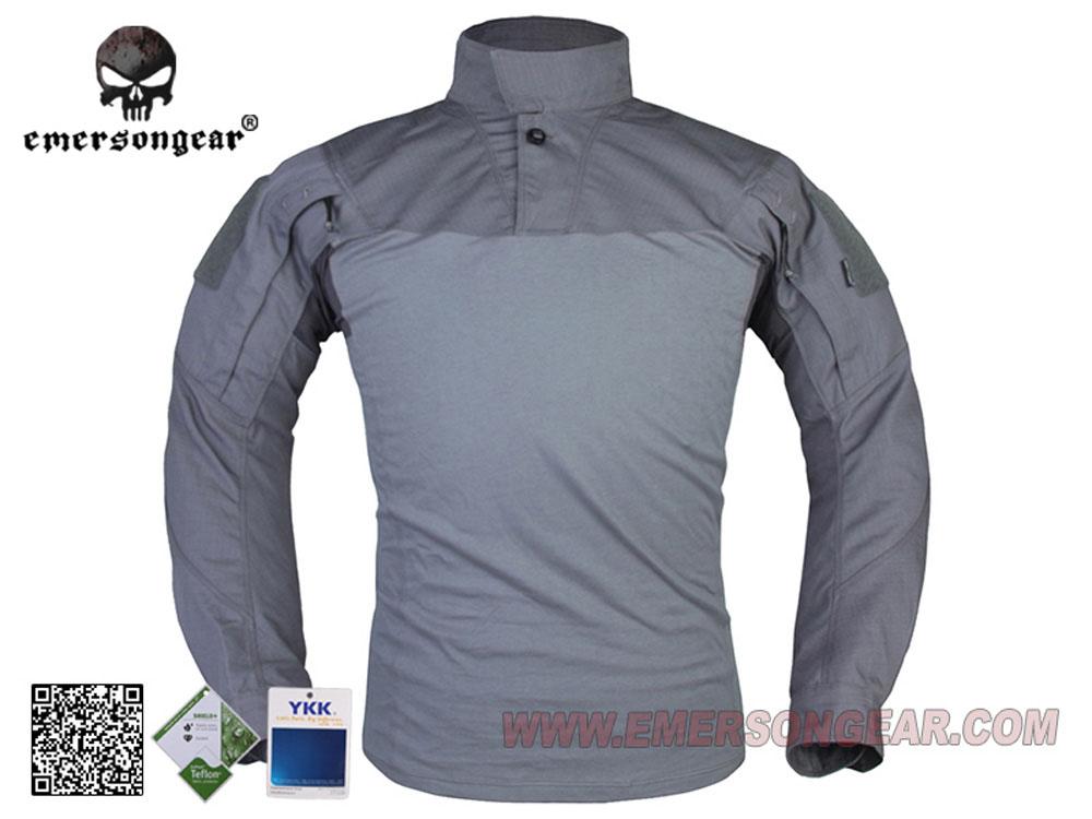 【シャツのみ】 上着単品 EMERSON製 アサルトシャツ 迷彩服 ウルフグリーン WG