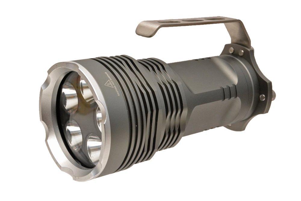 CL製 LED 防水 懐中電灯 登山 防災 2800ルーメン SOSモード搭載 T6LEDバルブ 5発搭載 銀 CL15-0060