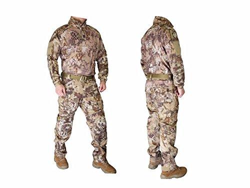 EMERSON製 Riotスタイル コンバット迷彩服 上下セット Highlander ハイランダータイプ迷彩柄