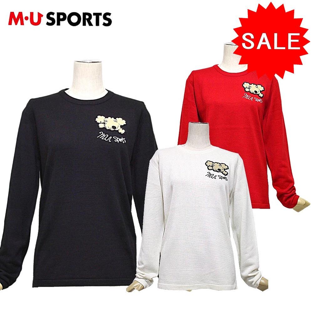 【50%OFF!セール】MU SPORTS / MUスポーツ / 丸首セーター/セーター (レディース) エムユースポーツ / ゴルフウェア
