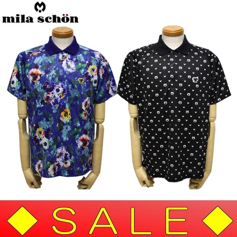 【30%OFF!セール】ミラショーン / mila schon(春夏モデル!)SPASSY半袖ポロシャツ(メンズ)吸水速乾/UVカット/16