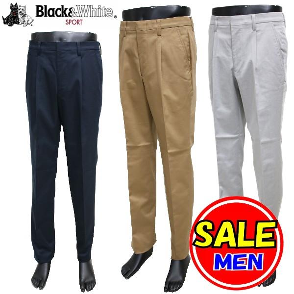 【55%OFF!セール】ブラック&ホワイト / 黒&白い / 秋冬モデル / パンツ/ / (メンズ) ブラック&ホワイト / ゴルフウェア