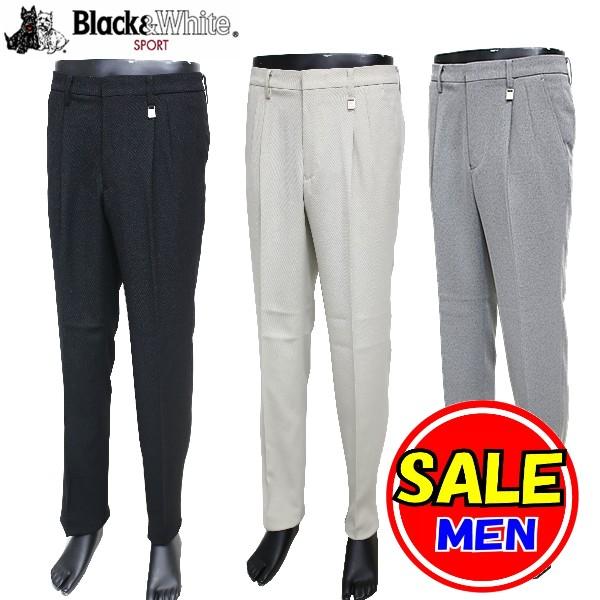 【50%OFF!セール!】ブラック&ホワイト / Black&White / 秋冬モデル / パンツ/ / (メンズ) ブラック&ホワイト / ゴルフウェア