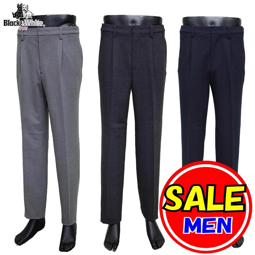 パンツ 紳士 【セール】 ブラック&ホワイト BGS5109HD
