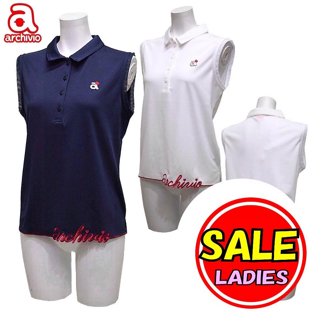 【40%OFF!セール】アルチビオ / archivio (春夏モデル!)ノースリーブシャツ / COOLMAX / クールマックス(レディース)アルチビオ/ゴルフウェア