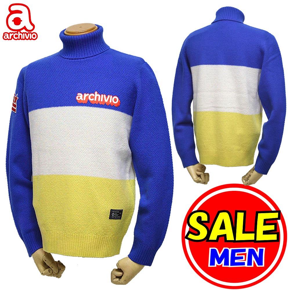 【40%OFF セール】【秋冬モデル】アルチビオ / archivio ニット 長袖セーター タートル セーター(メンズ)ゴルフウェア