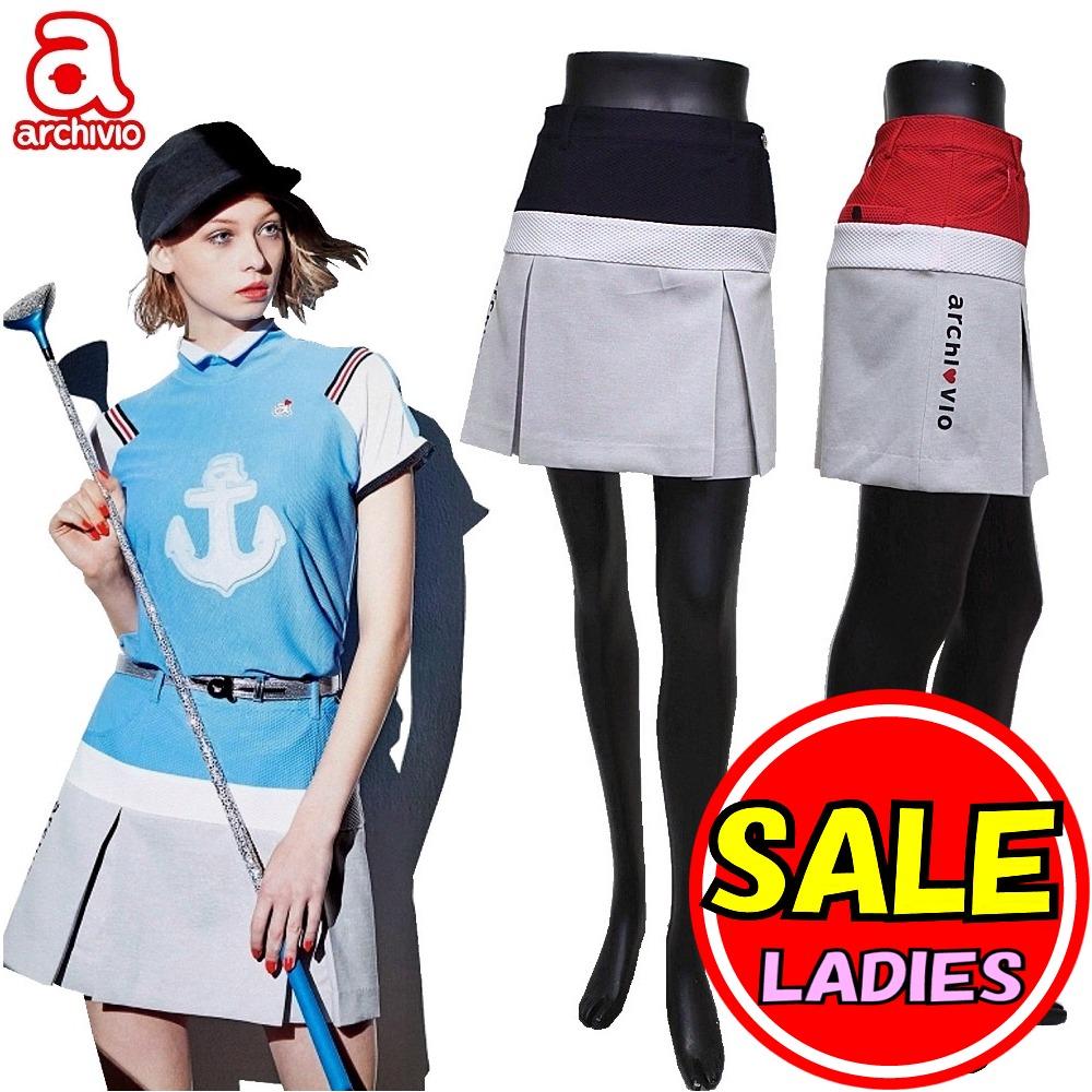 【40%OFF!セール】アルチビオ / archivio (春夏!) スカート メッシュ素材(レディース)ゴルフウェア