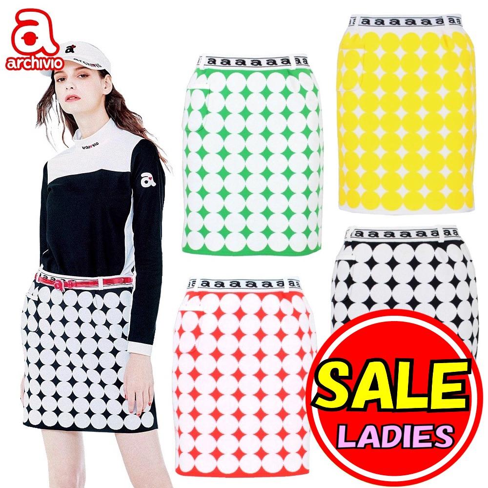【40%OFF!セール!】アルチビオ / archivio (春夏モデル!) スカート ドット柄 レディース ゴルフウェア/20