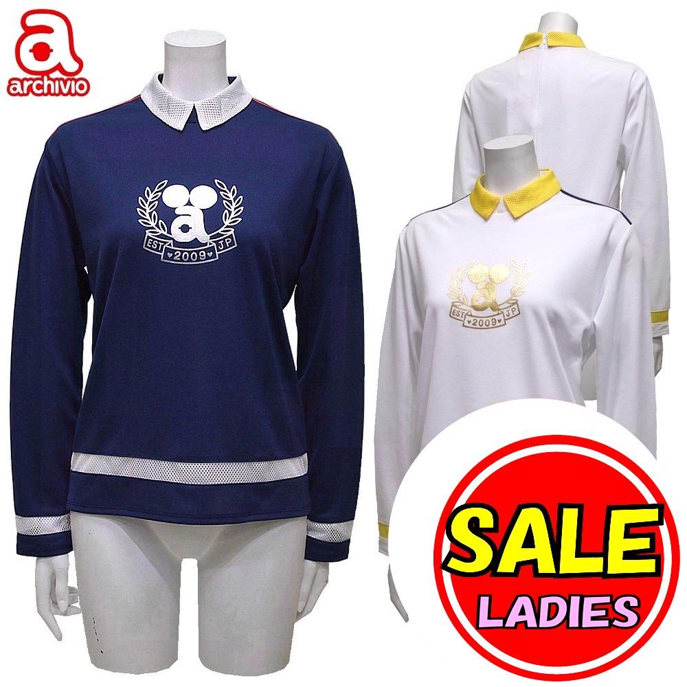 【40%OFF セール】アルチビオ archivio (春夏モデル)襟付き 長袖シャツ COOLMAX(レディース) アルチビオ ゴルフウェア