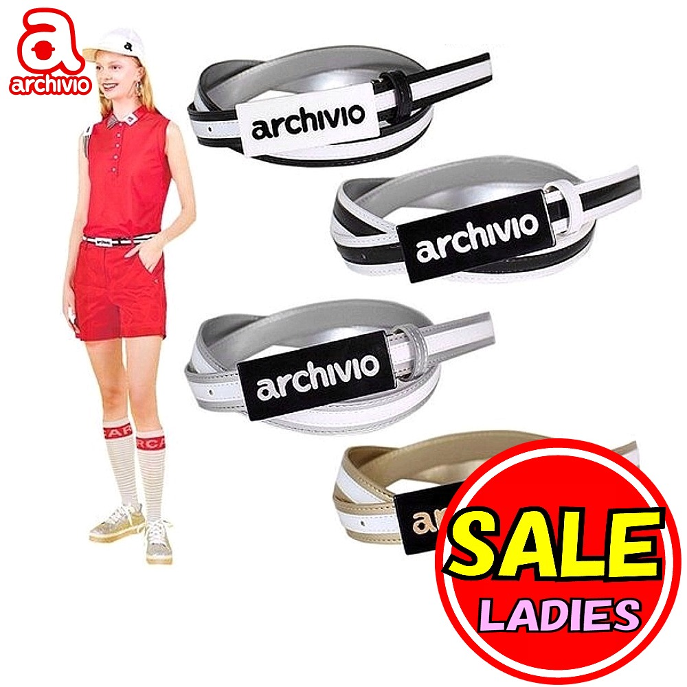 【20%OFFセール】アルチビオ / archivio (春夏モデル!)archivioバックル リバーシブル ベルト(レディース)アルチビオ/ゴルフウェア