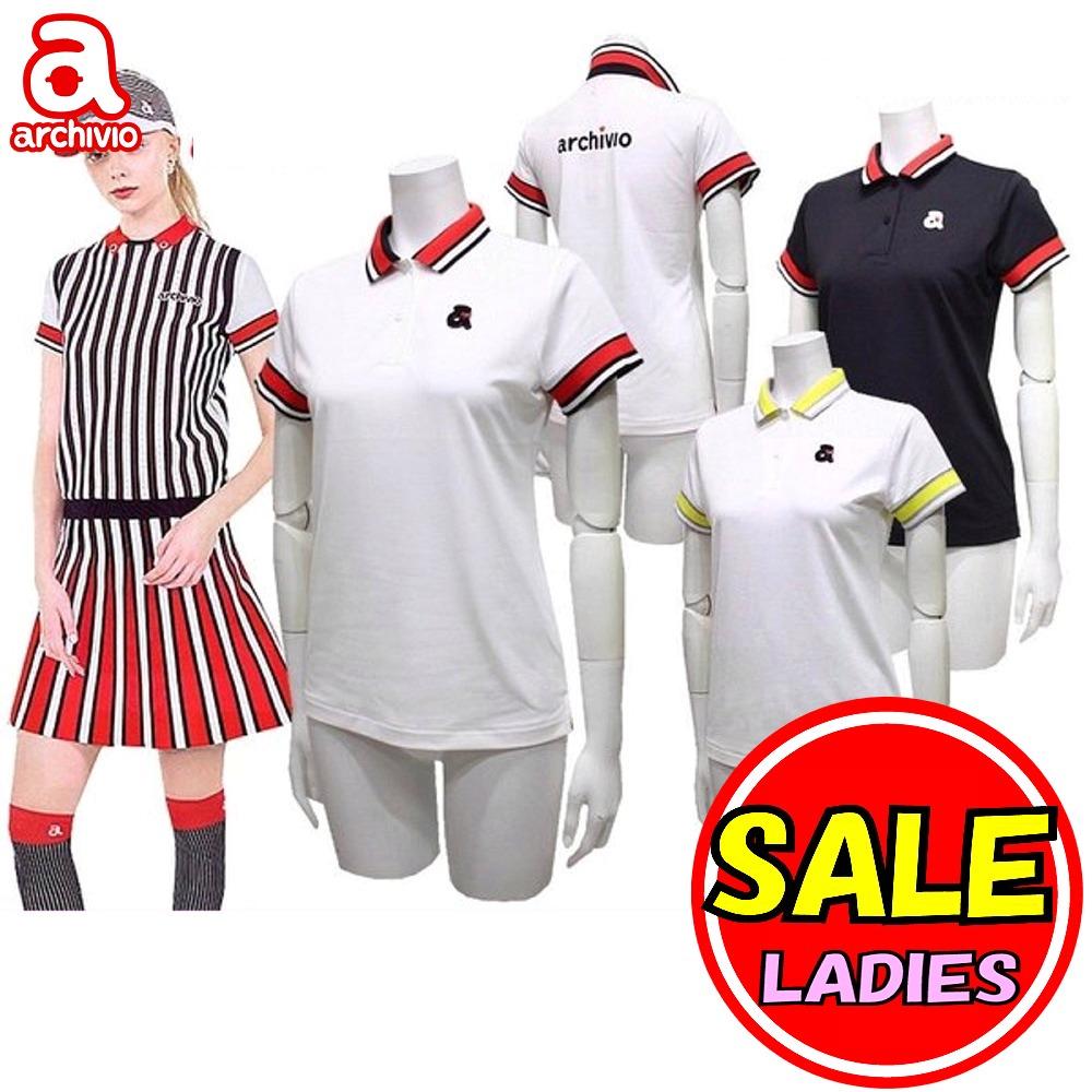 【40%OFF!セール】アルチビオ / archivio (春夏モデル!)半袖シャツ ポロシャツ / UV・吸水速乾 (レディース) アルチビオ ゴルフウェア