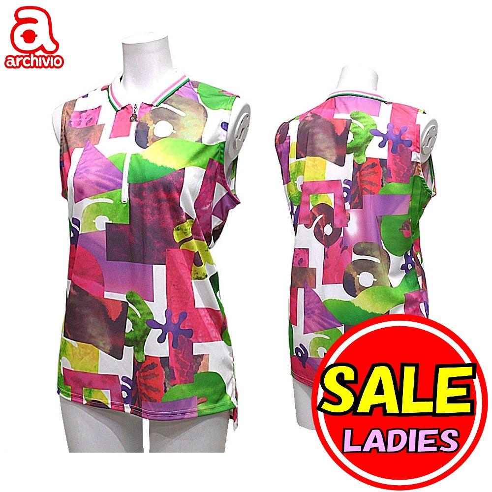 【40%OFF!セール】アルチビオ / archivio ノースリーブシャツ (春夏モデル!) UV・吸汗速乾・接触冷感・遮熱 (レディース) ゴルフウェア